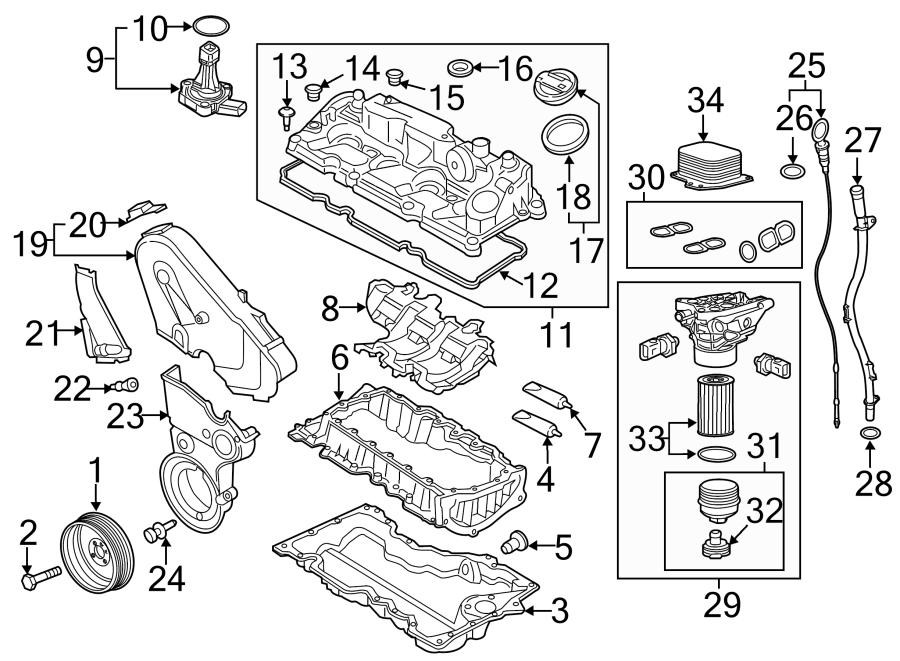 Volkswagen Beetle Engine Valve Cover Grommet  2 0 Liter